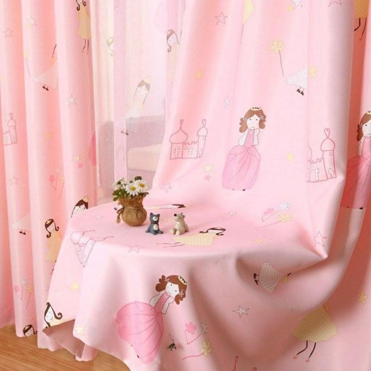 original diseño cortina rosa