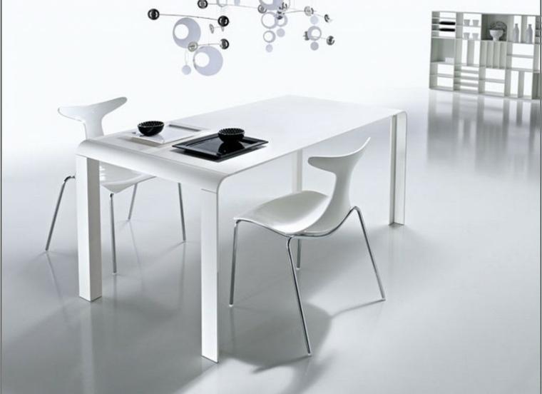 Comedor blanco de dise o moderno 24 fotos geniales - Muebles comedor diseno ...