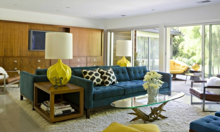 original diseño sofa azul