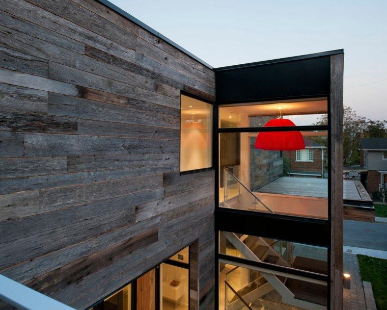 original fachada moderna madera