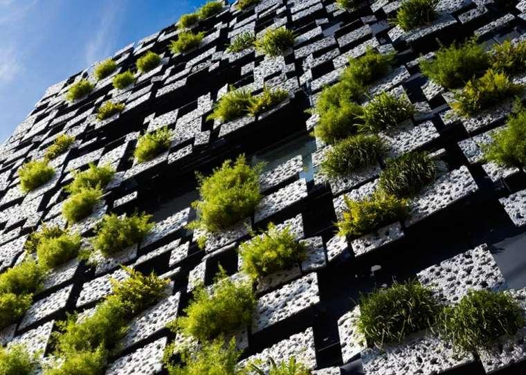 original fachada jardin vertical