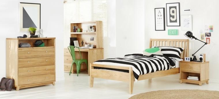 Dise os de camas para ni os en madera 24 im genes for Recamaras individuales de madera