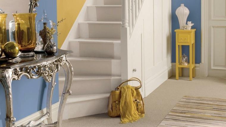 original recibidor azul amarillo