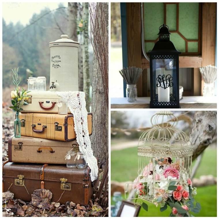 originales adornos boda vintage