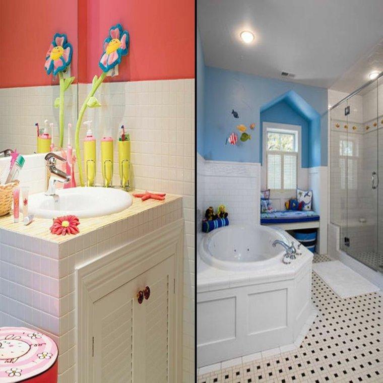 originales diseños baños infantiles