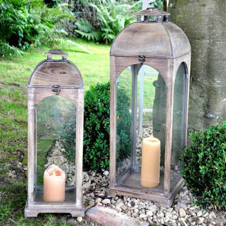 originales linternas grandes el jardín