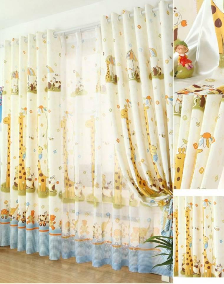 originales cortinas animales selva