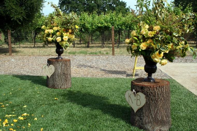 originales adornos una boda campestre