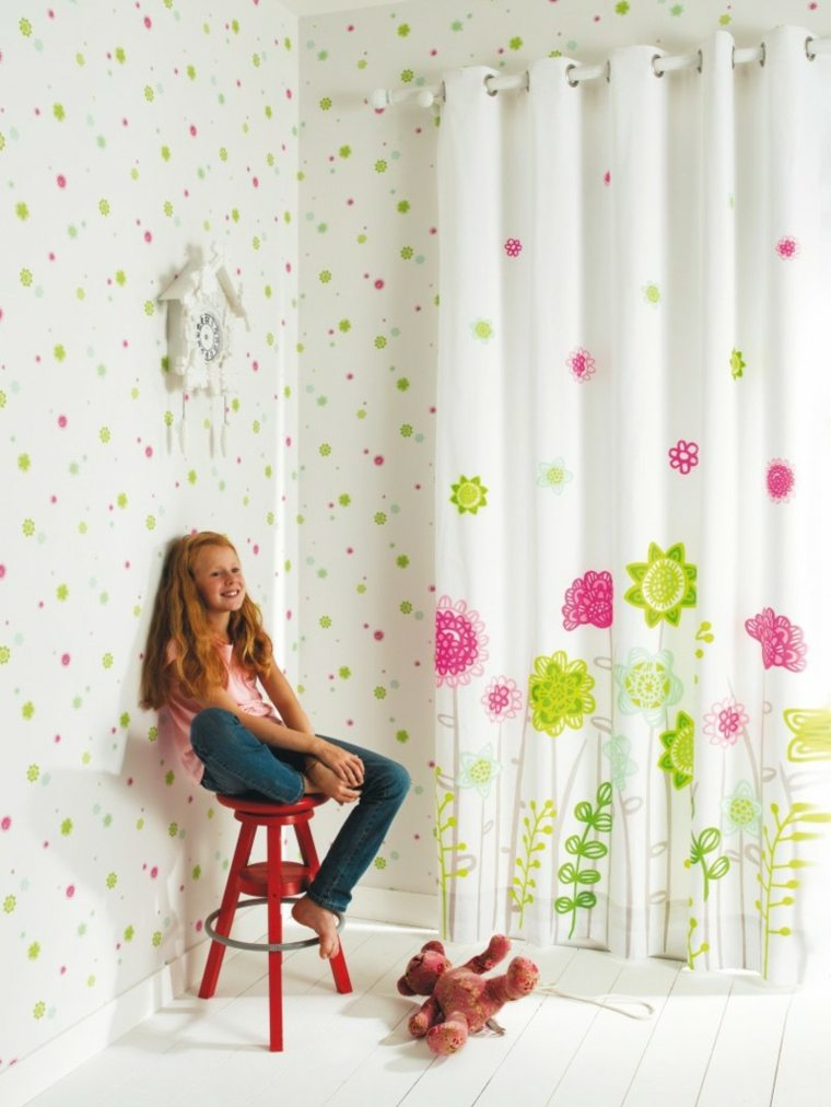 cortinas estampados flores