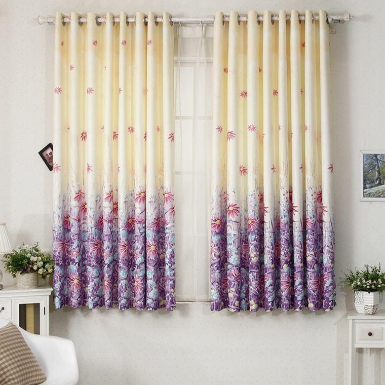 originales cortinas estampados florales