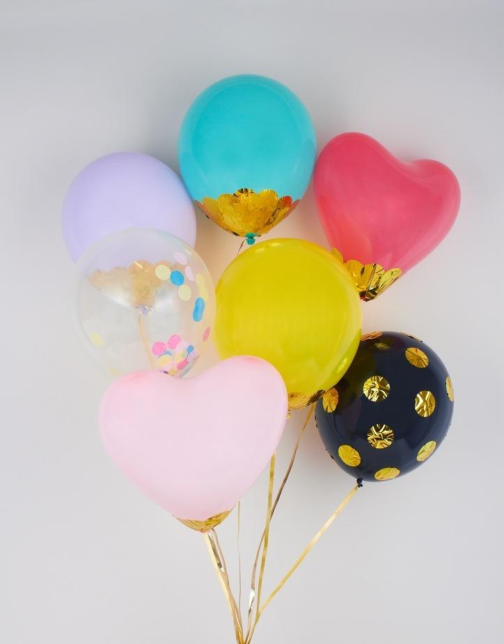 originales globos fiesta colores
