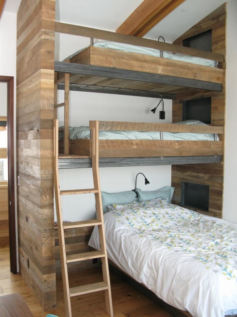 Dise os de camas para ni os en madera 24 im genes for Literas infantiles originales