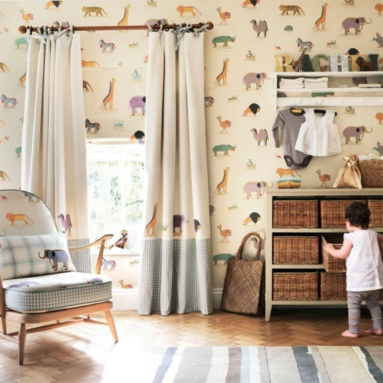 originales cortinas habitación bebé