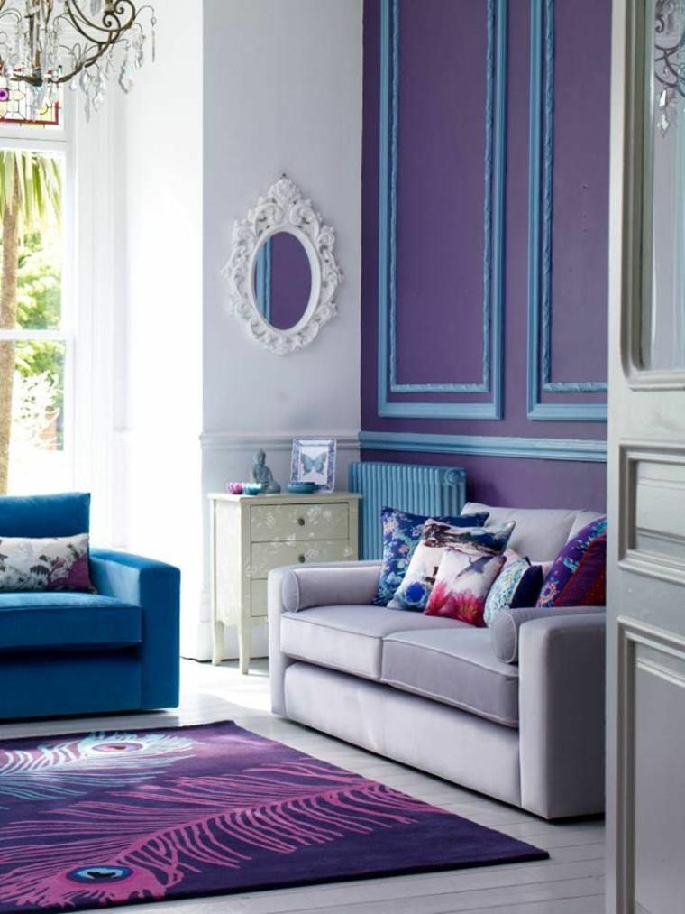 original salon violeta azul