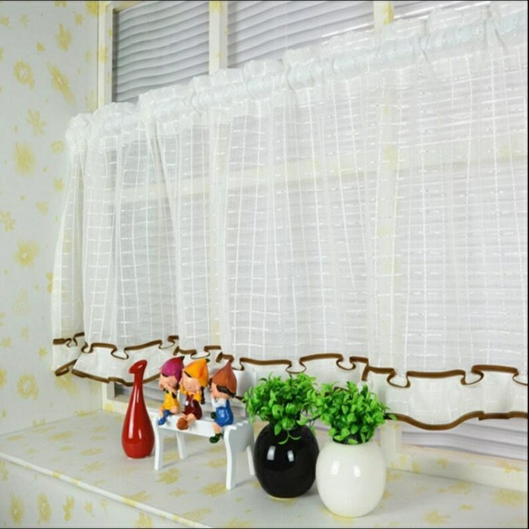 Cortinas para ventanas peque as 24 dise os estupendos for Telas cortinas salon diseno