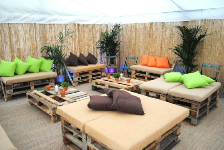 terraza chill out con palets - Terrazas Chill Out