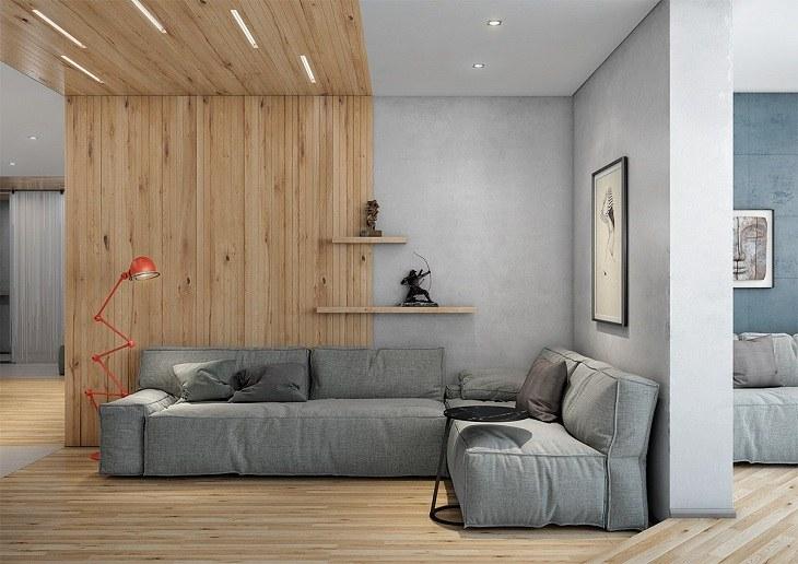 paneles madera colores salones acentos
