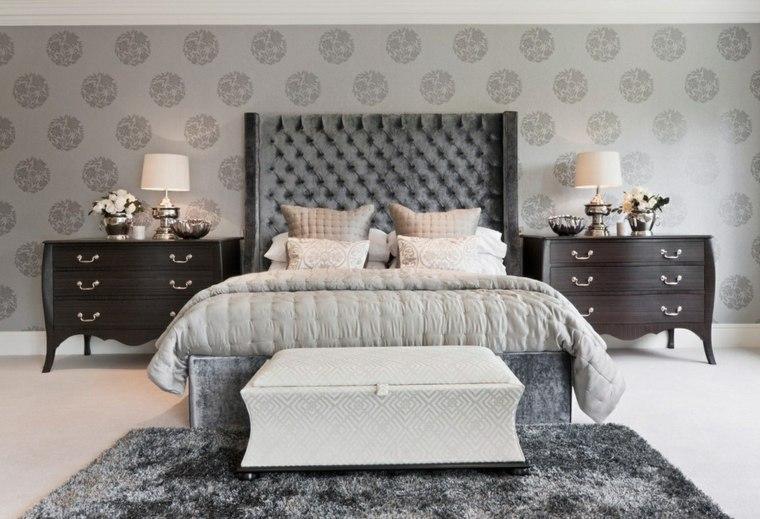 habitaciones decoradas con papel pintado interior