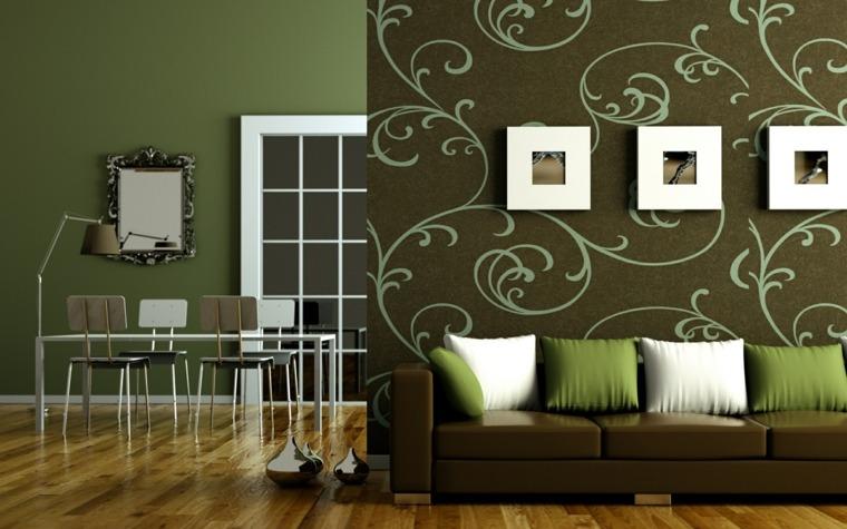 papel pintado decorativo sala de estar