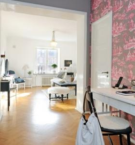 Paredes de madera en el dormitorio para crear un efecto - Papel pintado recibidor ...