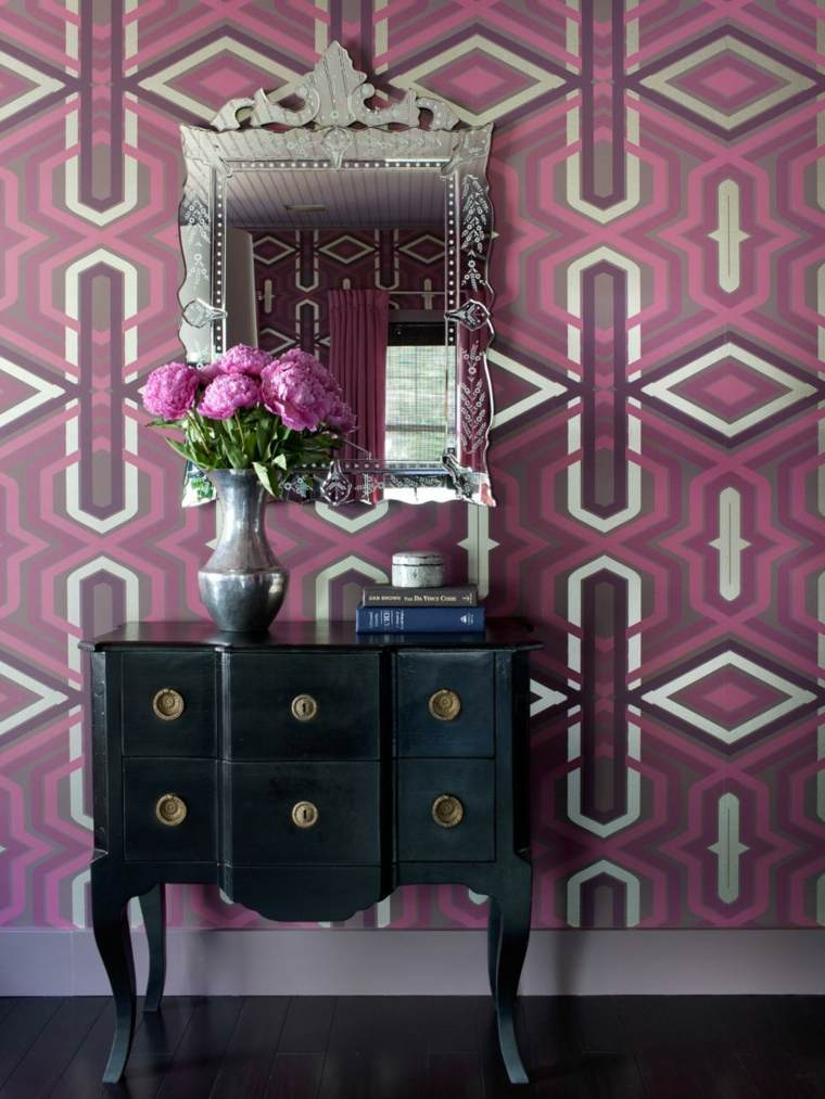 pared geometricas formas ideas espejos