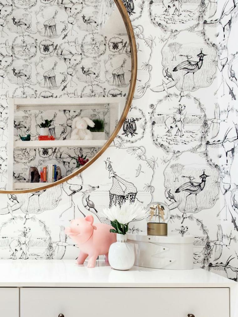 paredes especiales muebles acentos espejos