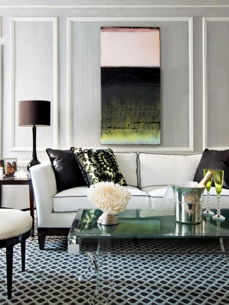 grises muebles blancos listas esferas