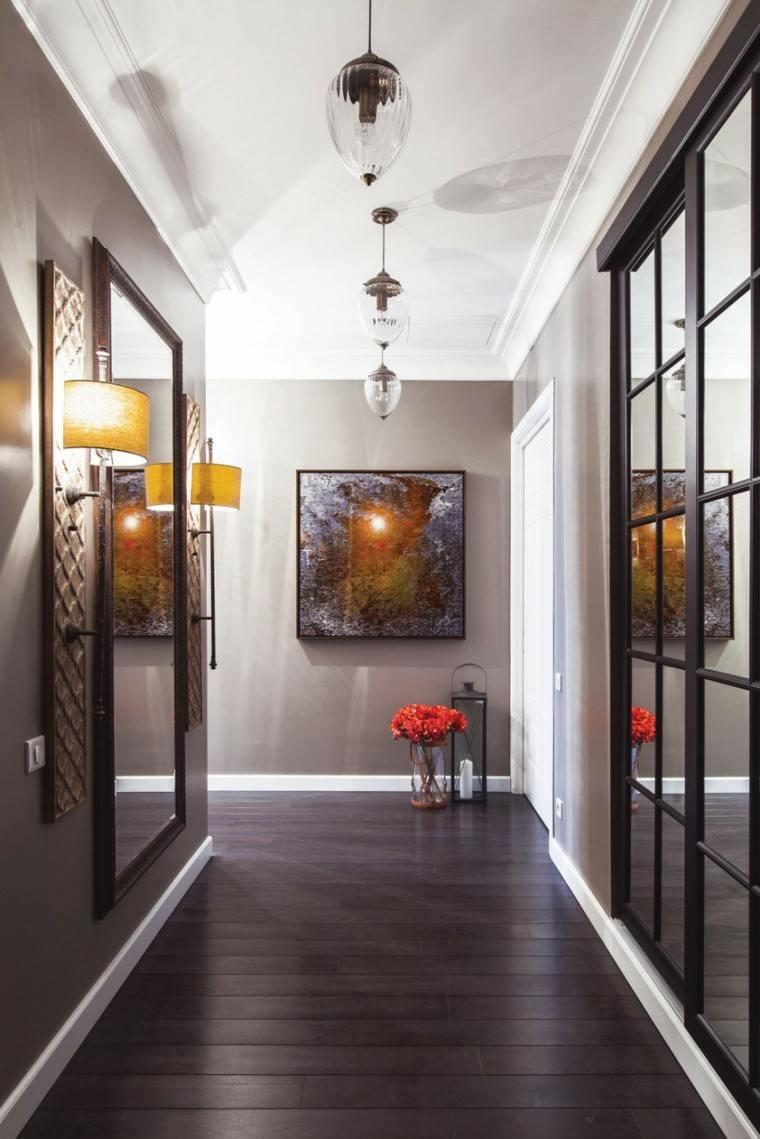pasillo paredes color gris claro