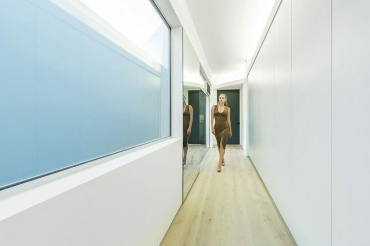 pasillo vestibulo diseño moderno