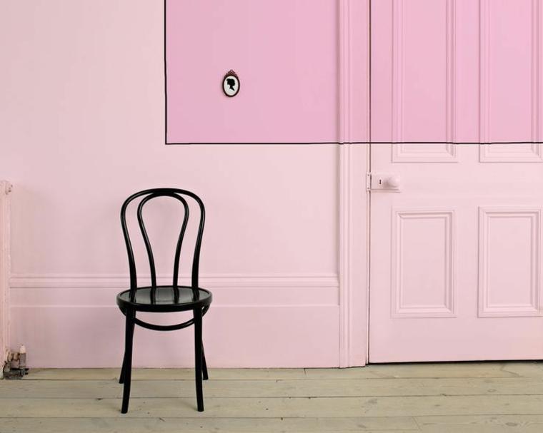 pasilo color rosa chicle