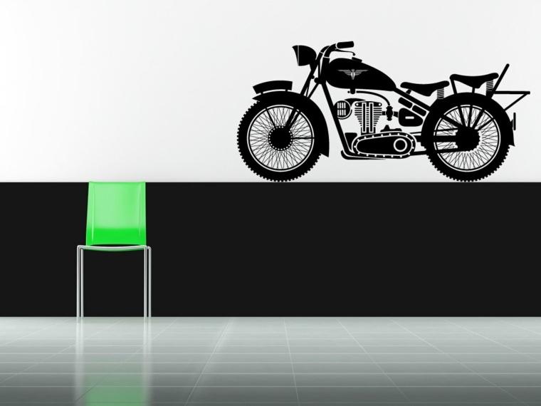 pegatina vinilo forma motocicleta