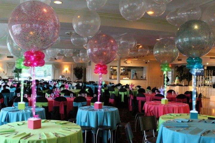 pintados globos disenos muebles manteles
