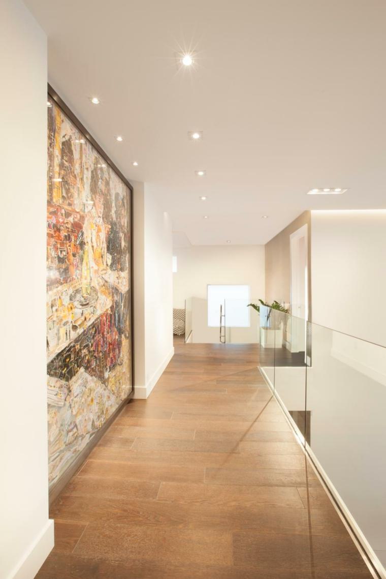 pintar pasillos cuadro decoraciones madera