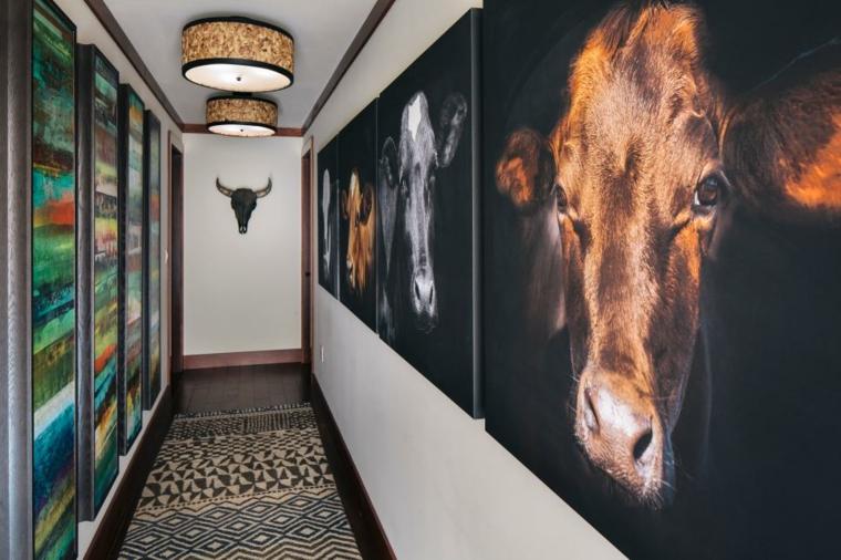pintar pasillos cuadros grandes cuadros
