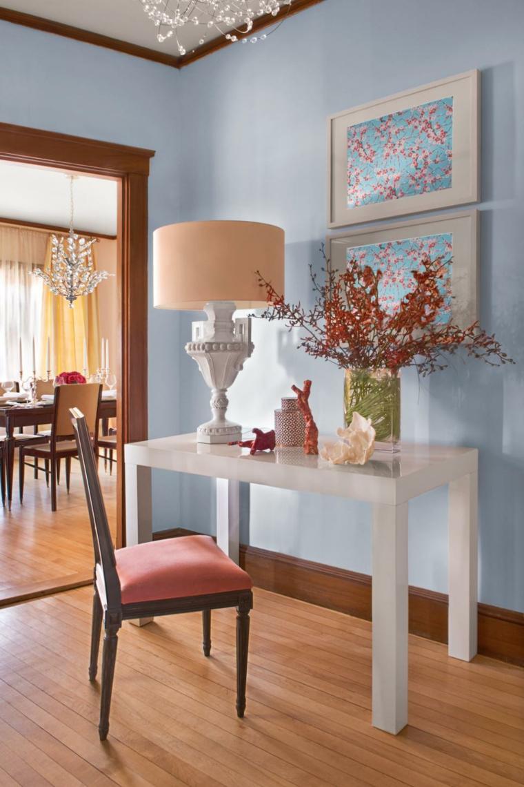 pintar pasillos eclectico fresco elegante fuentes