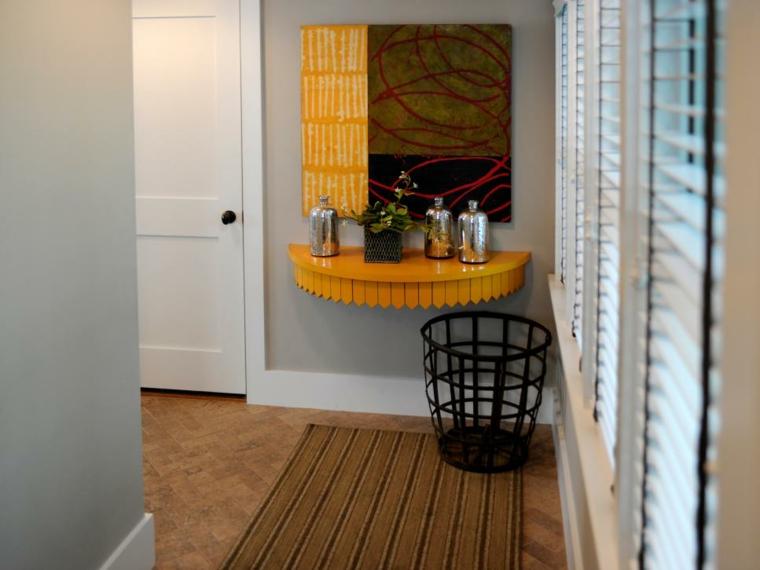 pintar pasillos gris amarillo paleta fuentes