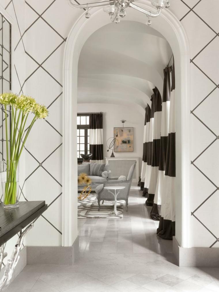 pintar pasillos patrones geometricos formas