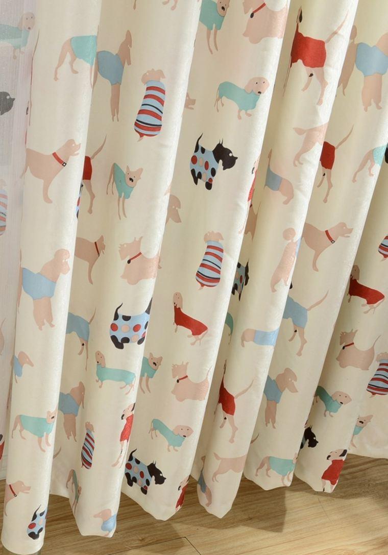 preciosa cortina estampados perritos