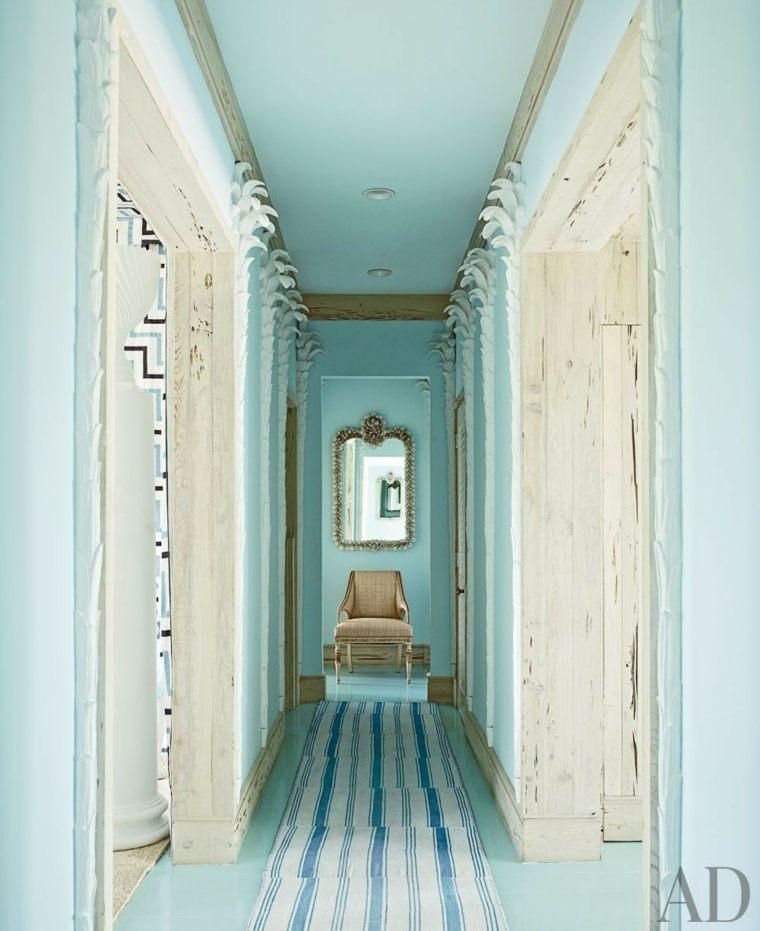 preciosa pintura pasillo color aguamarina