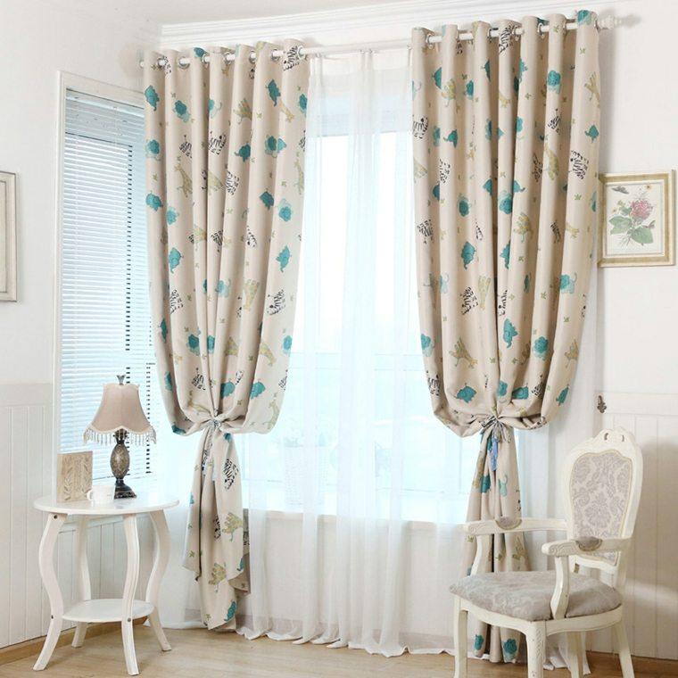preciosas cortinas para cuarto beb