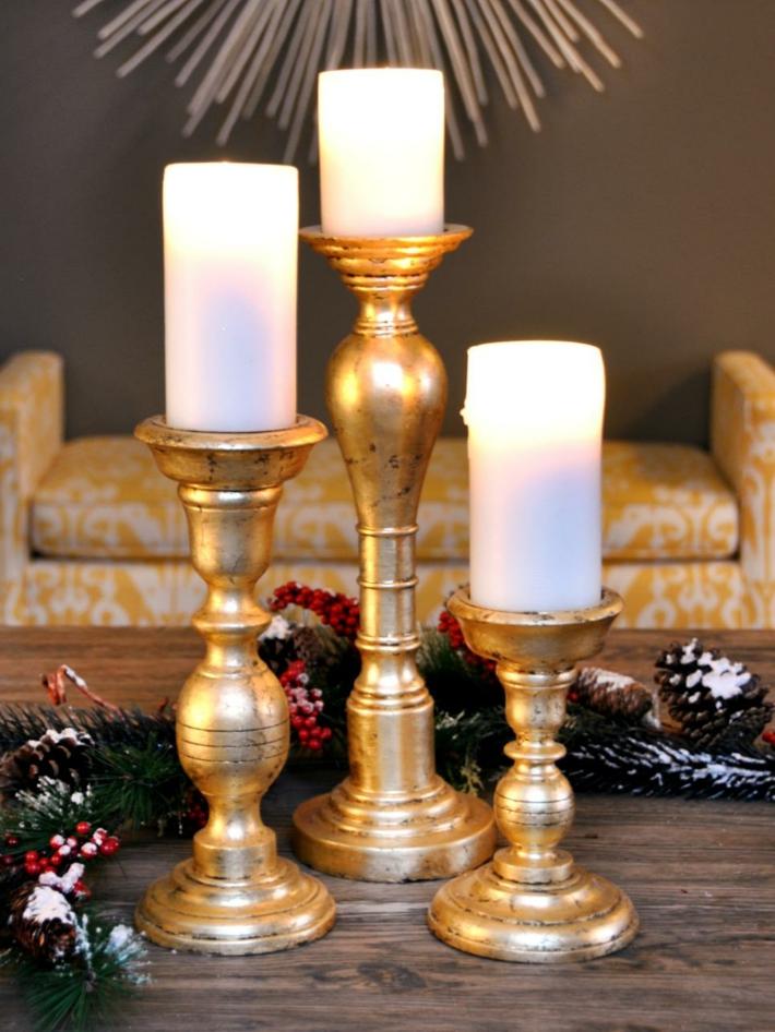 ramas candelabros muebles elegantes velas