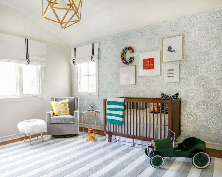 rayas alfombras muebles madera cuadros