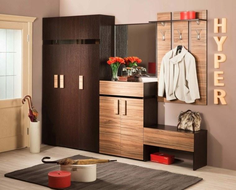 recibidor con armario moderno