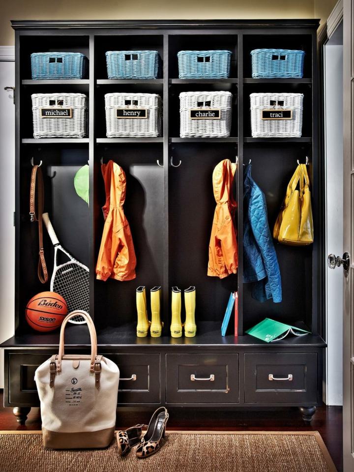 recibidores armarios modelo abierto pelotas