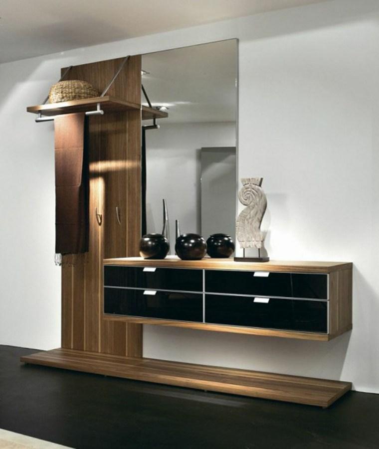 recibidores con armario moderno