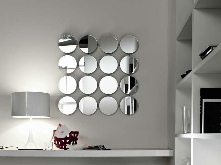 recibidores con espejos