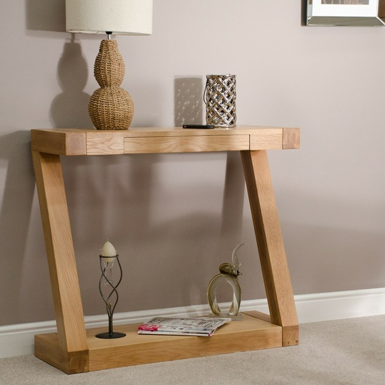 Recibidores estrechos decorados con mesas modernas for Espejos estrechos