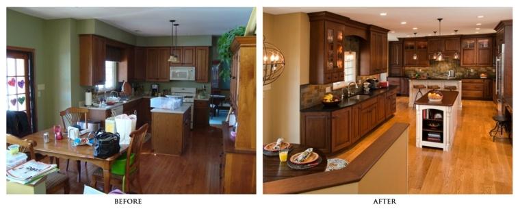 reforma cocina gabinetes madera