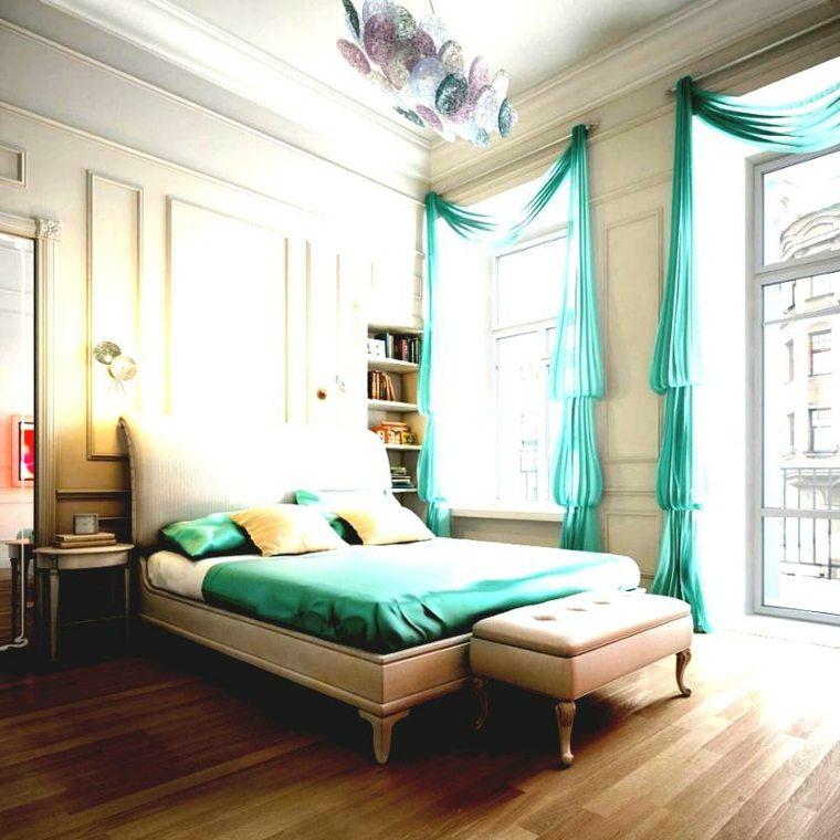ropa cama cortinas aguamarina