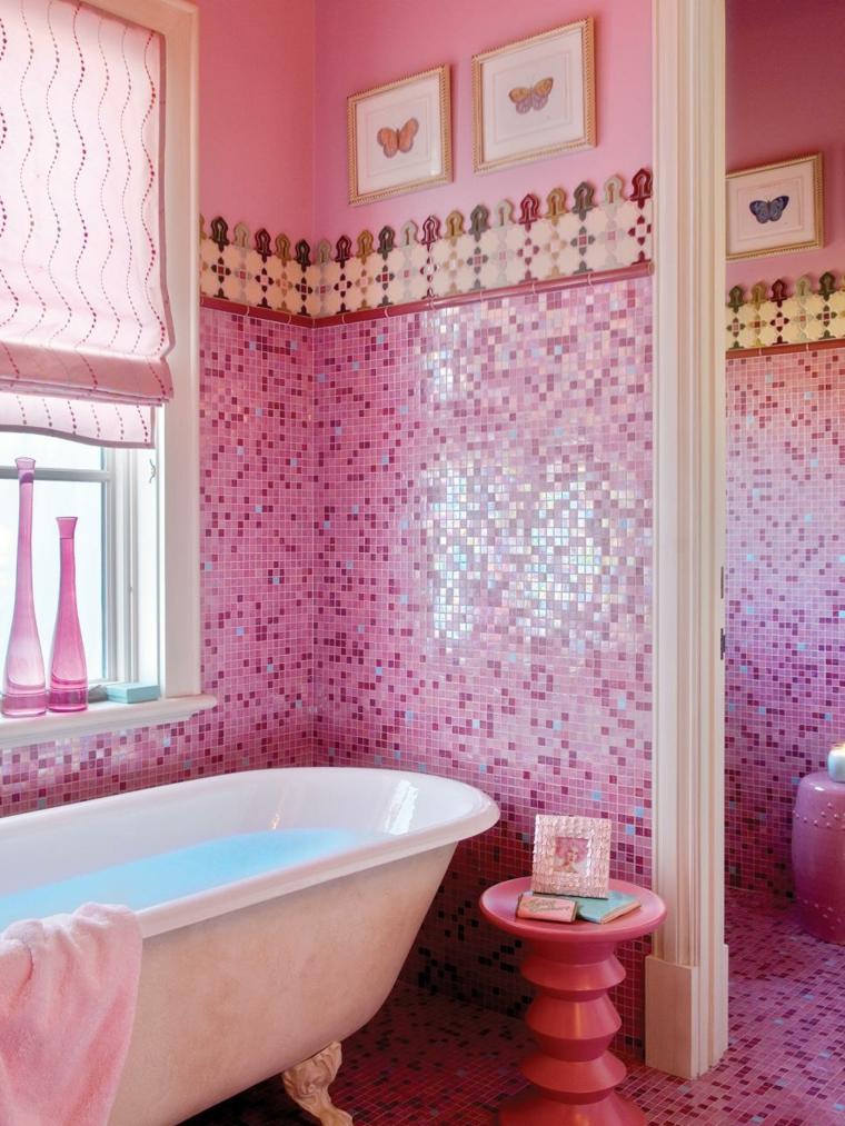 rosa mozaicos especiales accesorios flores